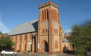 The pair were married in Adelaide, in a church just like this one
