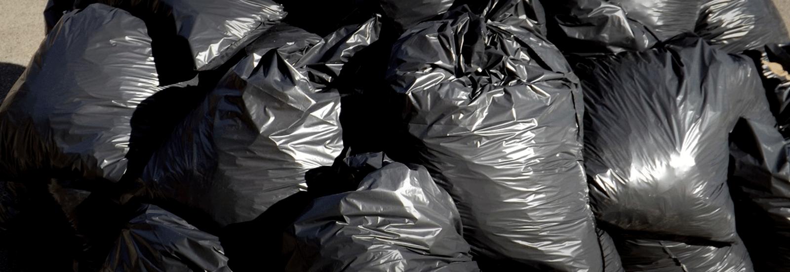 Bin bags and black rubbish sacks